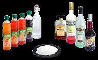 Licor, jarabe o azúcar en polvo