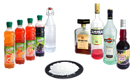 Liqueur, syrup or sugar powder