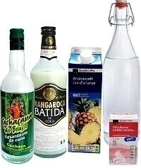 Ingredientes para Batida de Coco: Con Licor de Batida de Coco (estándar)