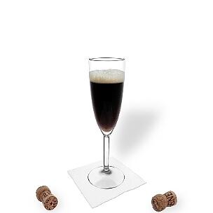 Todos tipos de copas de champán son ideal para Black Velvet.