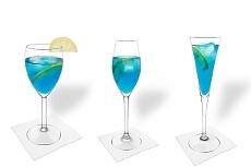 Diferentes decoraciones para Champán Azul