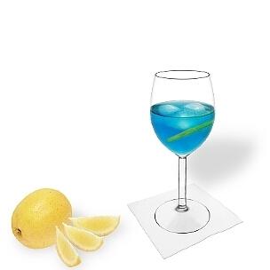 Copa de vino son una buena altenativa a las copas de champán para Blue Champagne.
