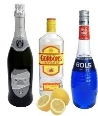 Ingredientes para Blue Champagne