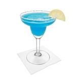 Preparación de Blue Margarita: Servir
