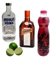 Ingredientes para Cosmopolitan