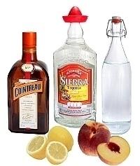 Ingredientes para Frozen Peach Margarita: Con Melocotón fresco (estándar)