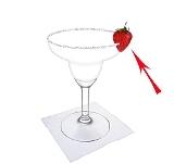 Preparación de Frozen Strawberry Margarita: Decoración de fresa