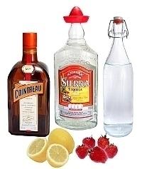Ingredientes para Frozen Strawberry Margarita: Con Fresas Frescas (estándar)