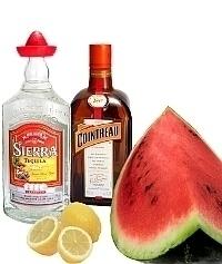 Ingredientes para Frozen Watermelon Margarita: Con Sandía Fresca (estándar)
