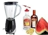 Preparación de Frozen Watermelon Margarita: Mezclar