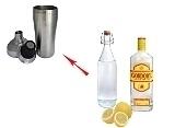 Preparación de Gin Sour: Agitar