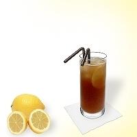 Long Island Ice Tea en un vaso alto.