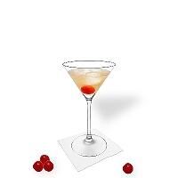 Manhattan en un vaso martini.