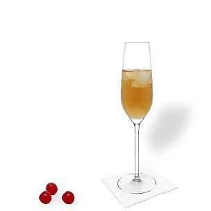 A lo mejor sirves Ohio en copas e champán o copas de vino sin decoración.