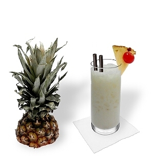 A lo mejor presentas Piña Colada en vasos largos o vasos huracán.
