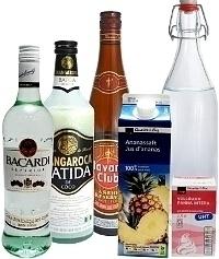 Ingredientes para Piña Colada: Con Licor de Coco (estándar)
