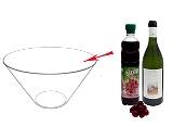 Preparación de Ponche de Cereza: Mezclar