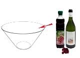 Preparación de Ponche de Frambuesa: Mezclar
