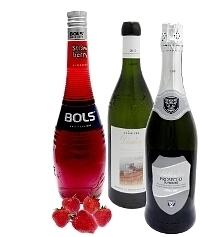 Ingredientes para Ponche de Fresa: Con Licor de Fresas (estándar)