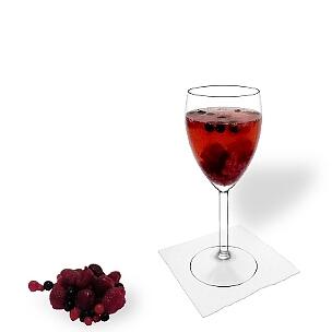 Todos tipos de copas de vino son ideal para Ponche de Granos.