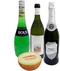 Ingredientes para Ponche de Melón: Con Licor de Melón (estándar)