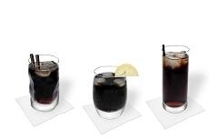 Diferentes decoraciones para Ron y Coca-Cola