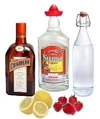 Ingredientes para Strawberry Margarita: Con Fresas Frescas (estándar)