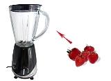 Preparación de Strawberry Margarita: Mezclar