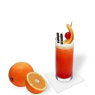 Todos tipos de vasos largos son ideal para Tequila Sunrise.