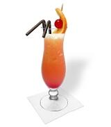Preparación de Tequila Sunrise: Servir