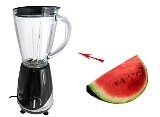 Preparación de Watermelon Margarita: Mezclar
