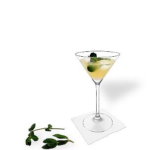 Copas de Martini son otra opción para presentar Whisky Sour.