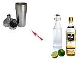 Preparación de Whisky Sour: Agitar