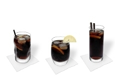 Diferentes decoraciones para Whisky y Coca-Cola