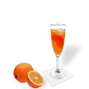 Aperol Spritz In A Champagne Glass