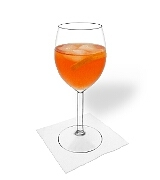Aperol SpritzPreparation: Mixing and serving
