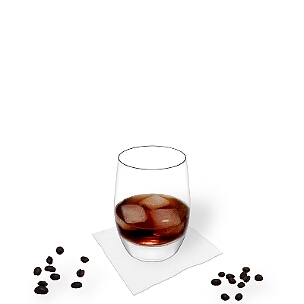 Tumbler glasses are best choice for Black Russian.