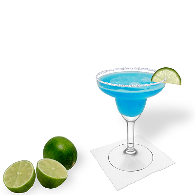 Blue Margarita with individual decoration