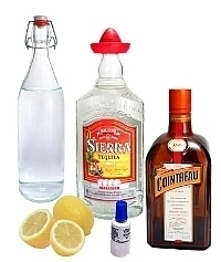 Blue Margarita ingredients: With Food Coloring