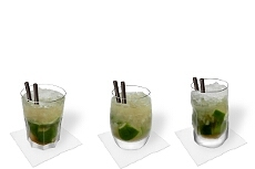Different Caipiroska decorations