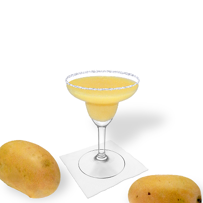 Frozen Mango Margarita with individual decoration