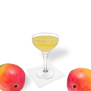 Another great option for Mango Margarita, a cocktail saucer.