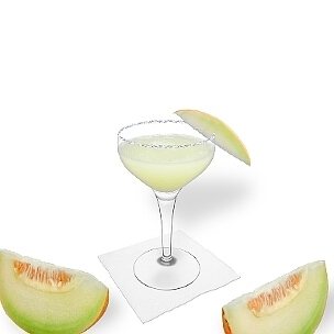 Another great option for Frozen Melon Margarita, a cocktail saucer.