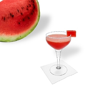 Another great option for Frozen Watermelon Margarita, a cocktail saucer.