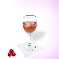 Kir in a wine glass.