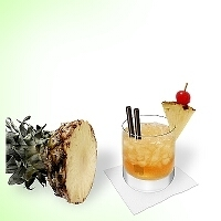 Mai Tai in a tumbler glass.