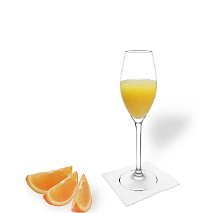 All champagne glasses fit well with Mimosa.