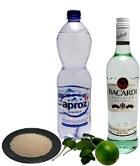 Mojito ingredients: With White Rum (standard)