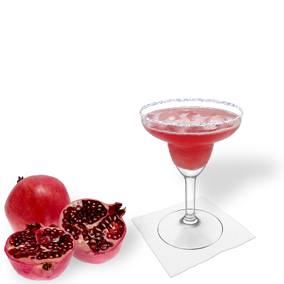 Pomegranate Margarita with individual decoration