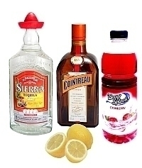 Pomegranate Margarita ingredients: With Pomegranate Juice (standard)